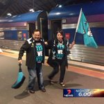 RT @MarkMooney7: It was 35 mins late but The Overland has arrived in Melbourne with plenty of excited @PAFC fans @7NewsAdelaide http://t.co/CYs24aZd3s