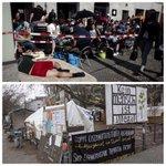 In #Deutschland erlaubt: auf Straße für #iPhone6 campen. In D verboten: für #Menschenrechte und #Bleiberecht campen. http://t.co/tX0zdsPbKC