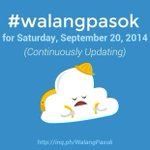 RT @Team_Inquirer: #walangpasok in Cavite, all levels, tomorrow, Sept. 20, says Gov. @jonvicremulla .More #walangpasok updates http://t.co/xXVousUDbA