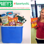 Win a cooler filled w/snacks & prizes from Spartys & Snyders-Lance. Just take a selfie! #SpartysSL #MSU http://t.co/Fs83qXD4Vk
