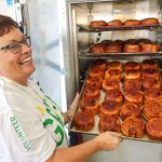 Tuck Shop Tent opens at 10 am. Look at these cinnamon buns! #UAlbertaAW http://t.co/fm9OTyRGv6