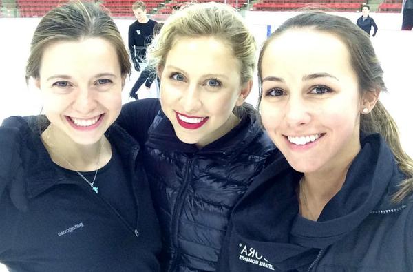 Late night practice last night with @agneszawadzki and @kimmiemeissner for @eveningwchamps! Get your tix for the show http://t.co/Q2l0aPlhVB