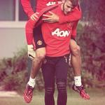 Funny moments between the hard work!! #MUFC http://t.co/h8S0FnW2uH