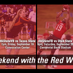 Need plans for the weekend? Well we invite all #AState Fans to come & hang out with the Red Wolves all weekend long! http://t.co/UOZEJI2kEP