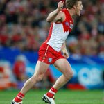 RT @sydneyswans: 1/2 time at @ANZStadium: Sydney Swans 9.10 64 to North Melbourne 4.4 28 #AFLFinals #goswans http://t.co/NLyQKbSFwF