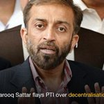 RT @dawn_com: Sindh is experiencing a great injustice, says Farooq Sattar | http://t.co/QfDcLCdMn8 http://t.co/JP7Y0WX8el