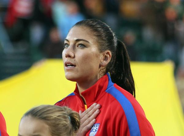 Why is no one talking about how Hope Solo, accused of domestic violence, continues to play? http://t.co/tIq4n3sTD3 http://t.co/rqGf4wAQxE