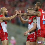 RT @sydneyswans: 3/4 time at @ANZStadium - Sydney Swans 13.17 95 to North Melbourne 6.7 43 #AFLFinals #goswans http://t.co/h4NabAWonY