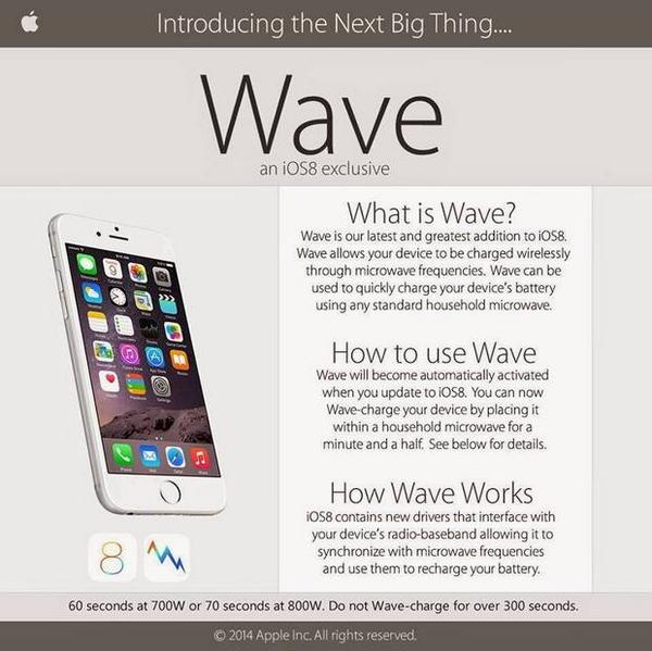 Attention all idiots: iOS8 Wave is a hoax, do not put your iPhone in the microwave http://t.co/00w9Svbwsp http://t.co/JrwalxPxxu
