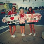 HONK IF YOU ❤️ @RedWolvesFBall! Make sure you get your tickets for the game tomorrow against Utah State! #HOWLyes http://t.co/E6nbQ9gKgg