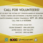 """@officialSOCC: CALL FOR VOLUNTEERS! Lets extend our help to those who were affected by Typhoon Mario! http://t.co/FZK4xCPNOU"""