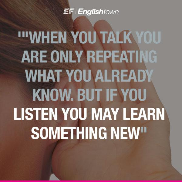 Listening can help you learn something new... http://t.co/tPmBE6I8lJ