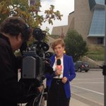 RT @CamMacIntoshCBC: The talented @genmurchison doing what she does for #RDI #cmhr Well be out here all day http://t.co/7zIOzYfkRy