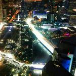 RT @popspoken: From the 63rd floor of Raffles Place, heres the view of the #SingaporeGP #F1NightRace from 1-Altimate. http://t.co/N7t12iiufx