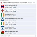 PICS: What Scotland might say on a Facebook relationship status update...:) #indyref #scotland #ireland #wales #usa http://t.co/4KLbvvZcvF