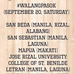 RT @NCAASchools: #walangpasok as of 9:00pm. Mapua-Manila #maypasok the only remaining school in the NCAA na #maypasok http://t.co/zYI9k0zcx9