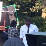 Exciting things--a local film is being shot at the zoo featuring @michiganstateu alum Delvon Roe today! #ZooYouKnow http://t.co/o4aBlfZpWv