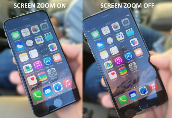 Here's a comparison image on an iPhone 6 when you have Display Zoom turned on. FYI - it looks great. http://t.co/FhsMkM6aWm