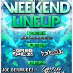 THE WEEKEND LINEUP! Fri:@djgregpic+@dj_booch Sat:@JoeBermudez+@CharlieRouhana Doors at 10pm! #OpenFormat #EDM #Boston http://t.co/AoW7u46EFs