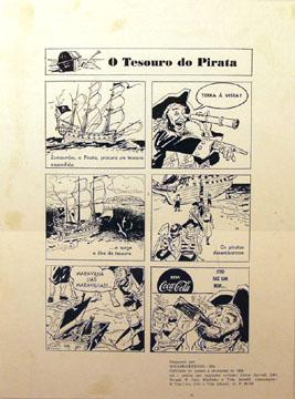 """Lets celebrate """"Talk Like a Pirate Day!"""" Here is a 1953 Brazilian print ad with pirates. ^TR http://t.co/zH1Z1Whi3s"""