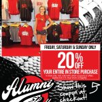 Happy Friday, #Caridnal fans! Today thru Sunday, take 20% off your entire in store purchase! #L1C4 http://t.co/lgqjNafeGf