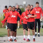 Practice before Sunday game versus Leicester... #mufc http://t.co/gpMTR837nj""