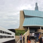 RT @Cameraman_Jer: Standing by outside the #CMHR in #Winnipeg. Waiting for the big opening. Bring on the sun! @CMHR_News #HumanRights http://t.co/teRLmMF7RY