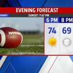 RT @JKetchmarkFox59: What a night for Friday night football! Clear skies and fall-like temperatures. Enjoy the game! @fox59 #INwx http://t.co/4zXJjpu4G6