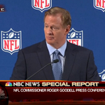 RT @NBCNightlyNews: 'I have not' - NFL Commissioner Goodell on if he's considered resigning