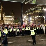 RT @T_Mackintosh: Back in George Square, massive ring of police #Glasgow #GeorgeSquare http://t.co/n9b8aTUtuw