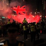 RT @jonmillsphoto: Dramatic scenes in #Glasgow - police everywhere - flares being thrown #indyref - the day hasnt finished with us yet http://t.co/DR68r5ZbO9