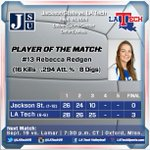 FINAL: LA Tech (6-6) defeats Jackson St., 3-0, the first match of the day for the Lady Techsters! #WeAreLATech http://t.co/HtE6GjrXj6