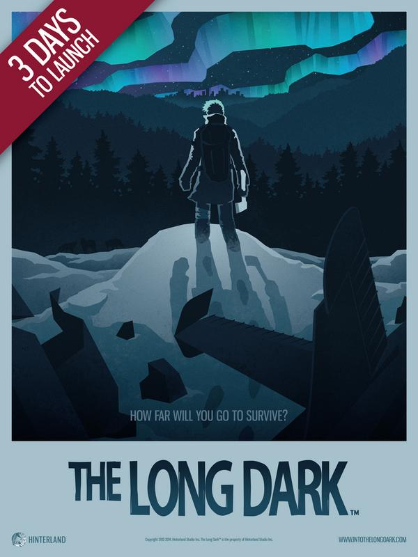 3 days left before #thelongdark launches on @steam_games Please support independent game dev! http://t.co/nmCMHSYfWX http://t.co/UathSx9HCU