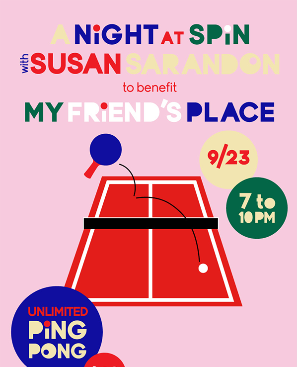 Wanna play ping pong with @SusanSarandon while supporting @MFPLA?  Come to @SpinLA on Tuesday Night. See you there! http://t.co/NQJ1RimfvU