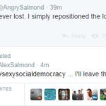 RT @JamieRoss7: A Twitter first? A politician (@AlexSalmond) replies to his parody account (@AngrySalmond). #indyref http://t.co/mbl1NHnNNJ