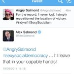 RT @andychristo: .@AlexSalmond @AngrySalmond Best. Tweet. Ever. #indyref http://t.co/0l8jXkMUBG