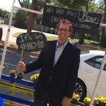 Thanks @jdunnington for stopping our parklet! #HD88 #uptownfamily http://t.co/Tr8gW5AGWT