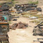 Assorted Arms and ammunition captured from terrorists in Konduga #VictoryforNigeria http://t.co/CBzIgelfcM