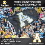 Rise @AppState_FB fans, its GAMEDAY! #AlwaysAttack #FunBelt http://t.co/Vr80a40RNO