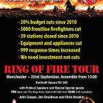 RT @FBURingOfFire: @kingssalford @PaulHeatonSolo To host FBU event on Monday after Labour Party Conference #SaveOurFireService http://t.co/slXJnopZFO