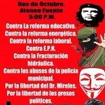 Seguimos invitando a toda la población a la marcha del 2 de Octubre en #Saltillo mas info con @zapatistas1994 http://t.co/SyUa2bFkD4