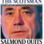 """Saturdays Scotsman front page - """"Salmond quits"""" #tomorrowspaperstoday #bbcpapers #indyref http://t.co/t2XPXvL7Gr"""