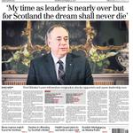 RT @Herald_Editor: Tomorrows Herald front page - Alex Salmond quits following #indyref defeat + free 24 page referendum special pullout http://t.co/5aKKj9EhUE