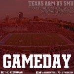 RT @AggieFootball: Game day in Dallas! RT if you plan to watch us #BTHOsmu today at 2:30 #TAMUvsSMU #12thMan http://t.co/3GEMllK9TU