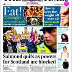 """Times: """"[Salmond quits as] powers for Scotland are blocked"""". So a day, then? #indyref http://t.co/ybeIUMjfj2"""