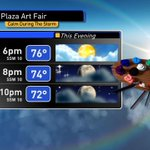 It will be a fantastic evening for the Plaza Art Fair! Check out the forecast here. http://t.co/MhOi66lyKt ^Bogo