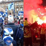 RT @walesyes: George Square, Glasgow before and after the vote. Who are the extreme nationalists? Who are the baying mob? http://t.co/gmN8V7HPaO