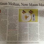 RT @msrbpl: Maun Mohan, Now #MaunModi Article by @ArvindKejriwal http://t.co/KkQUoe0CsW
