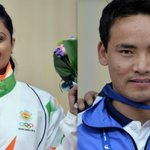 Shweta Chaudhry wins Bronze in the Womens 10m Air Pistol. Jitu Rai wins Gold in 50m Pistol. #AsianGames2014 http://t.co/hYSY4yJ6N1