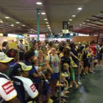 Fans waiting to welcome home the @nthqldcowboys. Many just holding back tears. @7LocalNewsTSV http://t.co/7GeuMepmvX